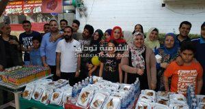 شباب التكية ينظمون إفطار جماعي للأطفال ذوي الاحتياجات الخاصة