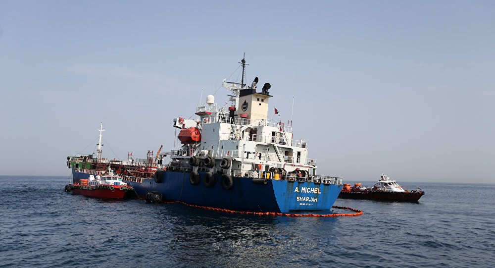 صورة تعرض ناقلتي نفط للهجوم في خليج عمان تعرف جنسيتهما