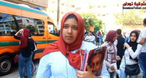 طلاب الثانوية العامة بالشرقية على امتحان العربي والدين