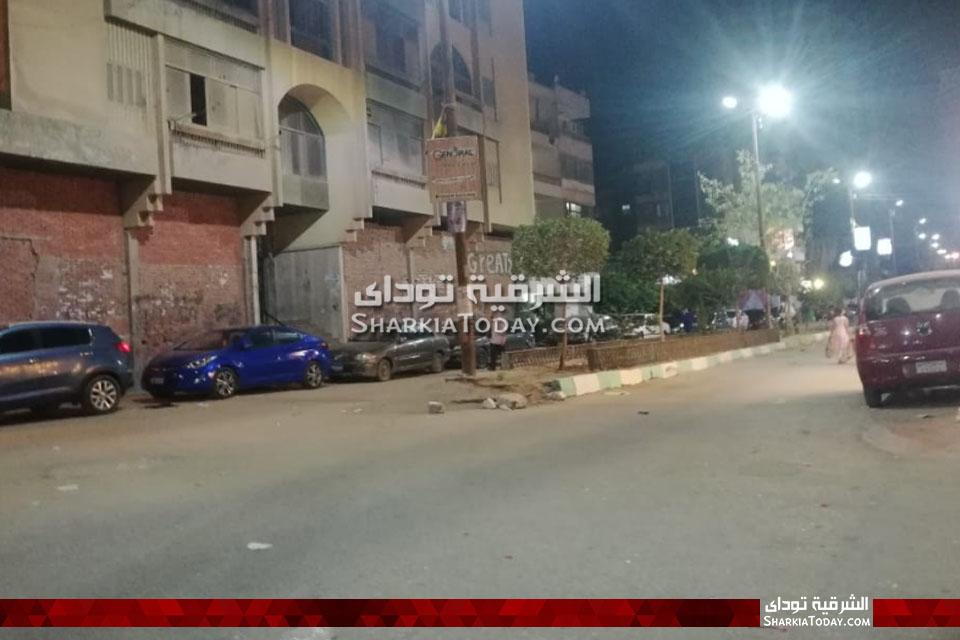 صورة هدوء تام بمحيط منزل محمد مرسي بالزقازيق