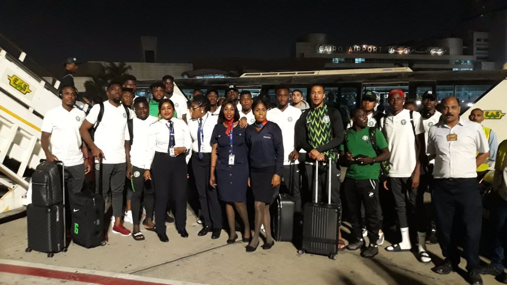 صورة منتخب نيجيريا يصل الإسكندرية استعدادا لكأس الأمم الإفريقية 2019