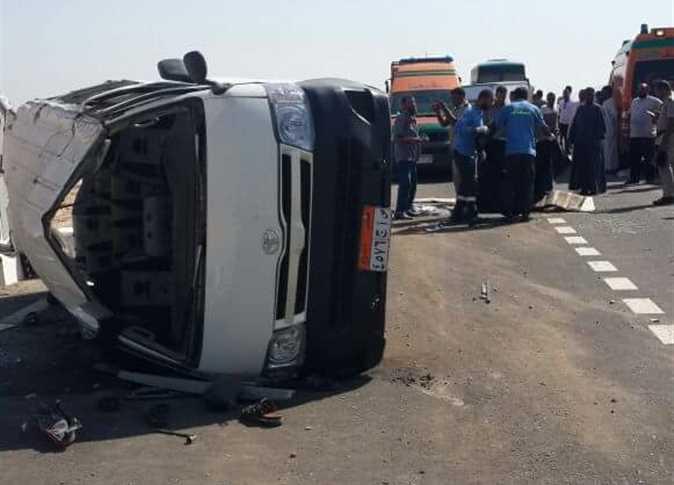 صورة مصرع شخص في حادث تصادم بالشرقية