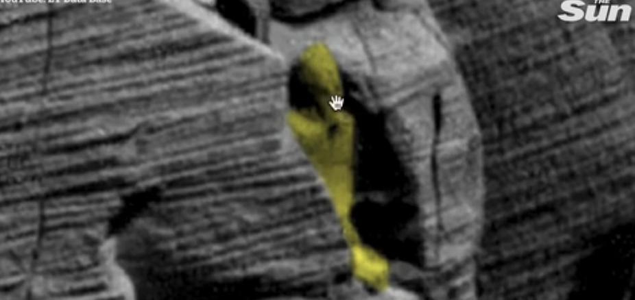 صورة علماء يزعمون العثور على آثار فرعونية على سطح المريخ