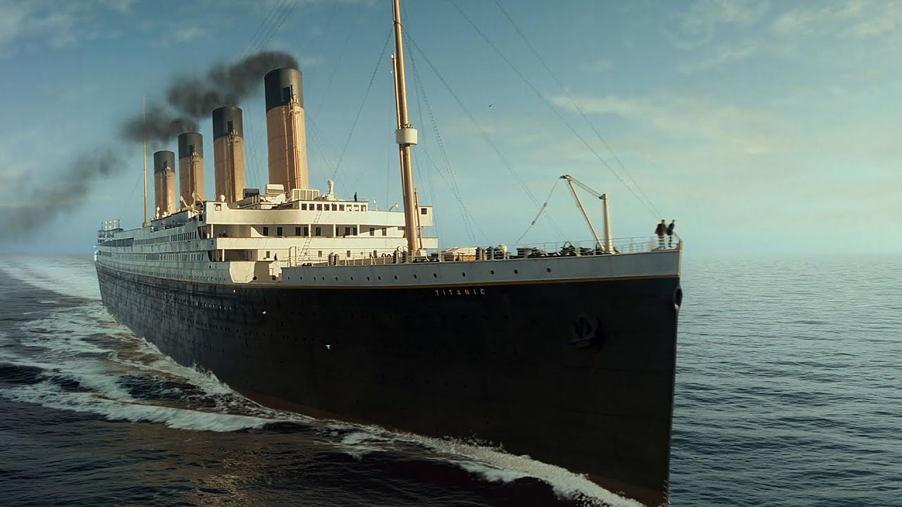 صورة ظهور حطام سفينة تيتانيك الغارقة بعد 14 عام من الحادث