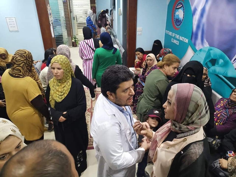 عيادات مستقبل وطن تنجح في الكشف على 500 سيدة