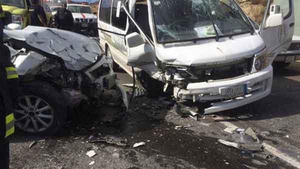 صورة إصابة 9 أشخاص في حادث على طريق بلبيس القاهرة