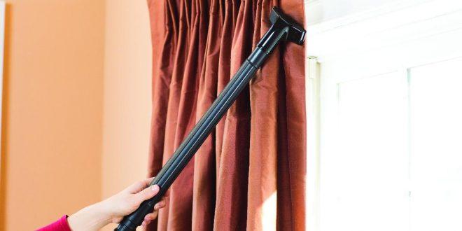 صورة طريقة سهلة لتنظيف الستائر