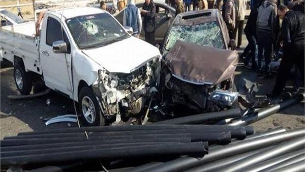 صورة إصابة 14 شخصًا في حادث تصادم بالشرقية