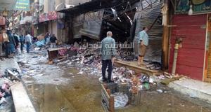 حريق شارع البوستة الهائل بالزقازيق