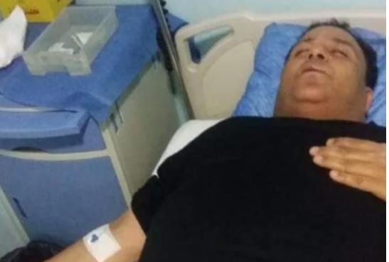 صورة تدهور الحالة الصحية لمحمد فؤاد ونقله إلى المستشفى