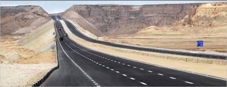 صورة 9 معلومات عن طريق شرم الشيخ الجديد به 3 حارات لمنع الحوادث