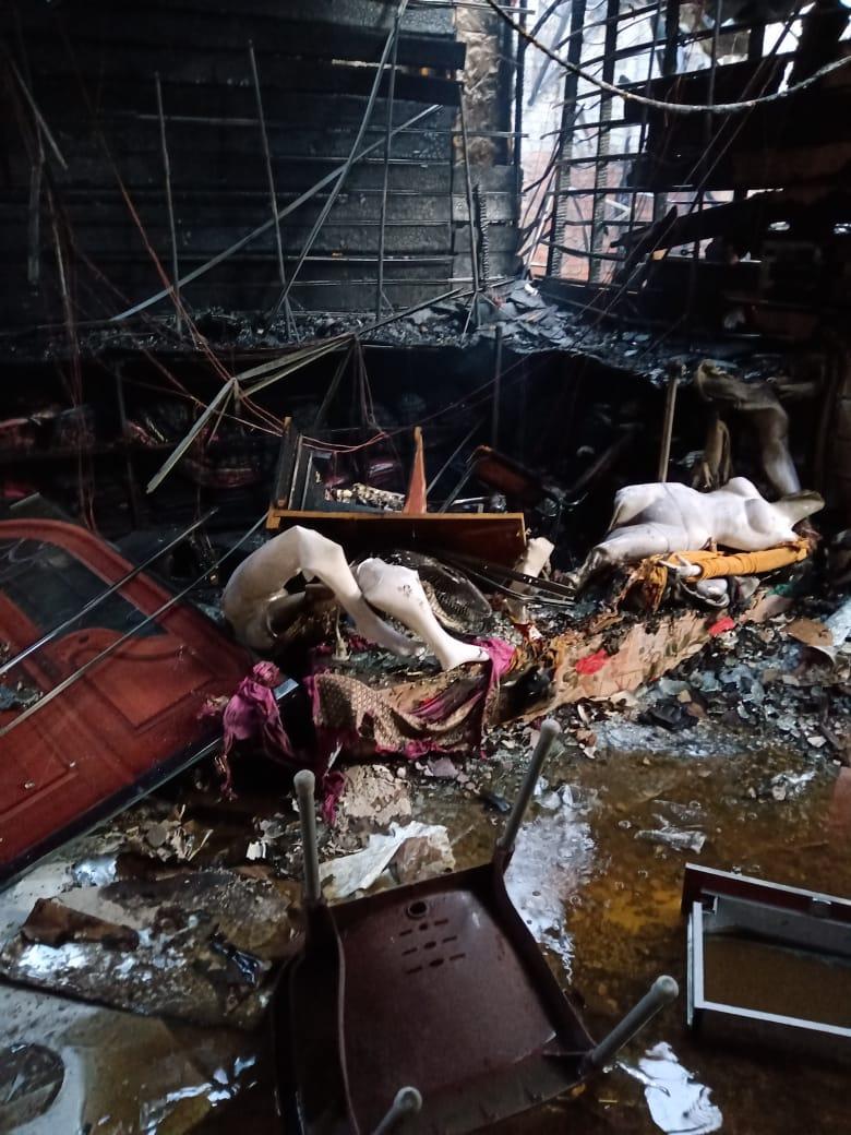 حريق شارع البوستة بالزقازيق
