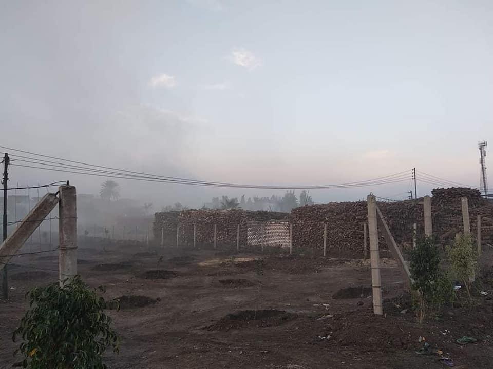 صورة شكوى أهالي قرية أبو شرف ببلبيس من مكامير الفحم