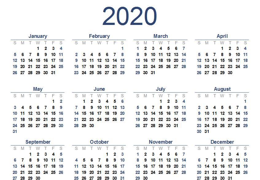 النتيجة الميلادية لعام 2020