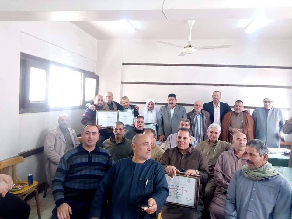 موجهي إدارة الحسينية التعليمية الأزهرية لبلوغهم سن المعاش