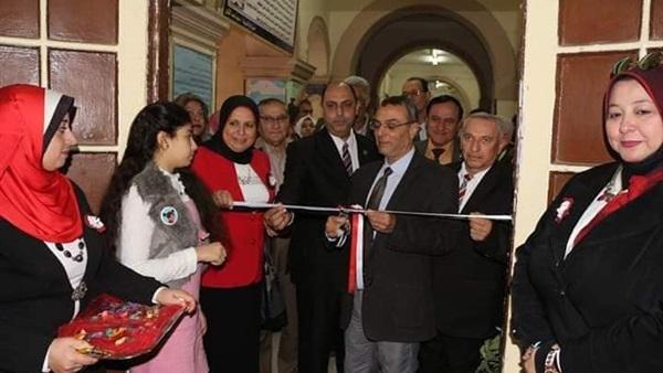 افتتاح معرض التربية الفنية ببلبيس