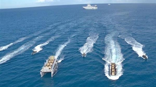 صورة تدريبات قتالية في البحر المتوسط ضمن فعاليات المناورة قادر 2020
