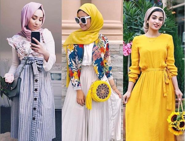 صورة ملابس كاجوال للمحجبات موضة صيف 2020 لإطلالة رائعة