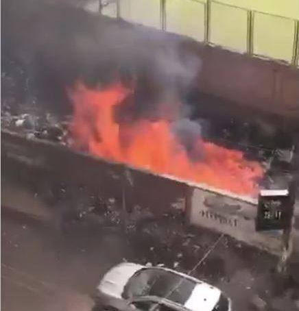 صورة شكوى أهالي الزقازيق من اشتغال الحرائق في القمامة