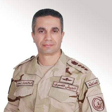 صورة المتحدث العسكري : استشهاد وإصابة عدد من الضباط في إحباط هجوم إرهابي بسيناء