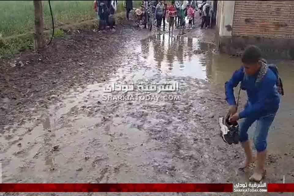 كارثة تهدد طلاب مدرسة بالشرقية