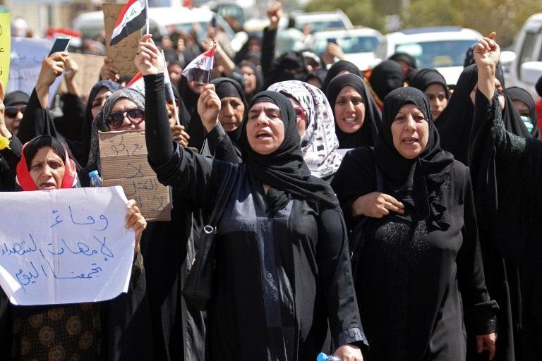مظاهرات نسوية ببغداد