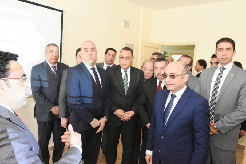 صورة وزير العدل يفتتح فرع جديد للشهر العقاري بالشرقية