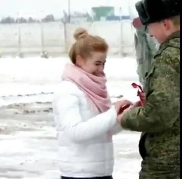الملازم الروسي و خطيبته