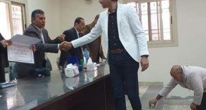 تكريم مدير شبكة كهرباء الصوة بأبوحماد