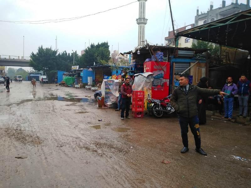 شوارع متضررة من الأمطار