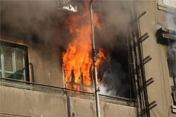 صورة مصرع طفلتين في حريق منزل بأبوحماد