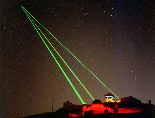 صورة أشعة ليزر تحرق عين طيار في السماء وتتسبب في كارثة