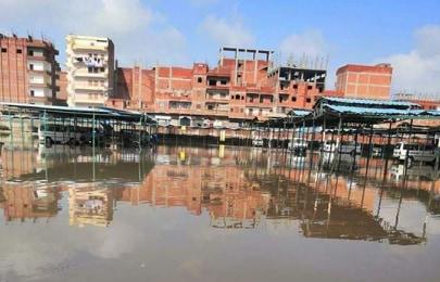 غرق موقف القاهرة في الزقازيق