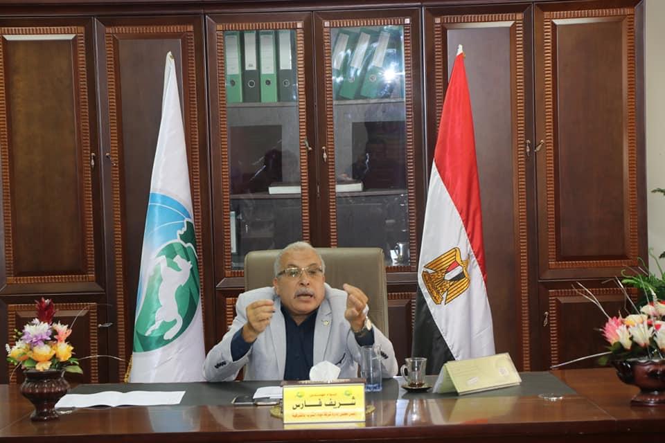 شريف فارس رئيس مجلس إدارة شركة مياه الشرب والصرف الصحى بالشرقية
