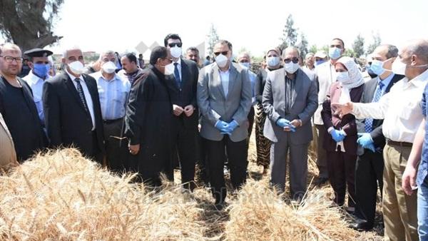 صورة محافظ الشرقية يشهد الاحتفال بيوم حصاد القمح بأبو كبير