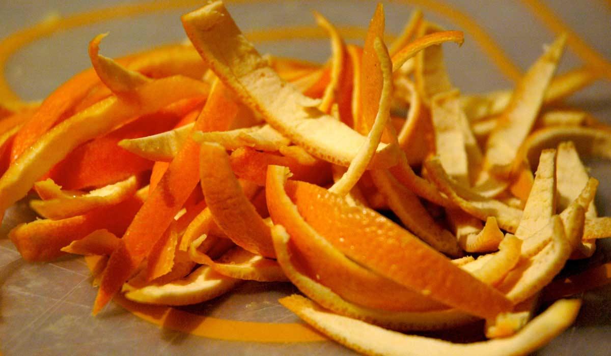 صورة كيفية تجفيف قشر البرتقال