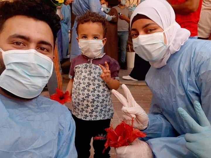 صورة شفاء أصغر طفل مصاب بكورونا في الشرقية