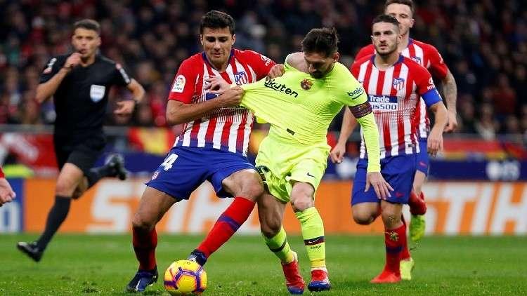 صورة بث مباشر مباراة برشلونة وأتليتكو مدريد
