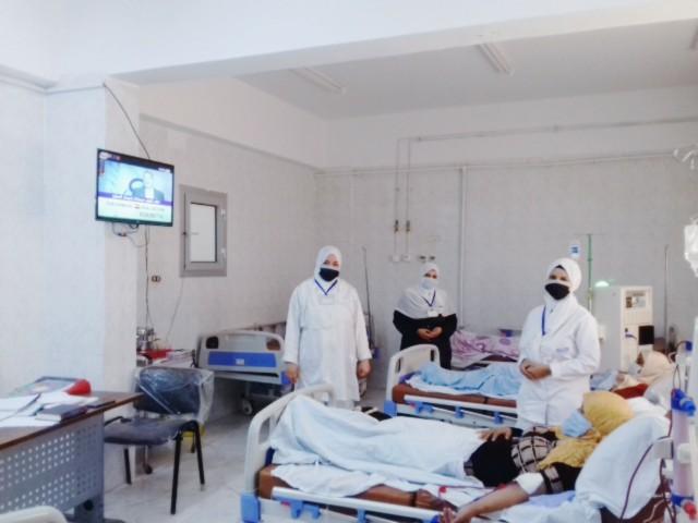 وحدة الغسيل الكلوي والحضانات بمستشفى أبو حماد واستبدالها بأسرة عزل 1