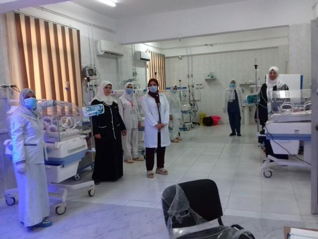 وحدة الغسيل الكلوي والحضانات بمستشفى أبو حماد واستبدالها بأسرة عزل 2