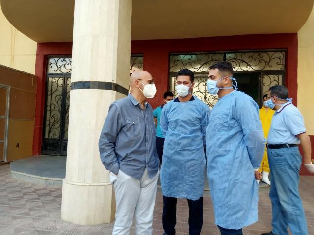 وزارة الصحة بالشرقية يتابع سير العمل بمستشفى العزل بالزقازيق 11