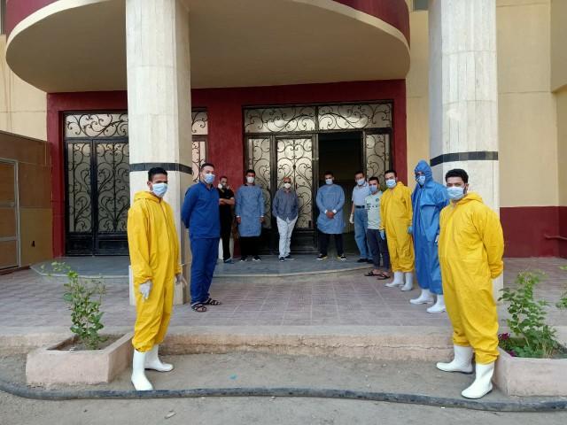 وزارة الصحة بالشرقية يتابع سير العمل بمستشفى العزل بالزقازيق 21