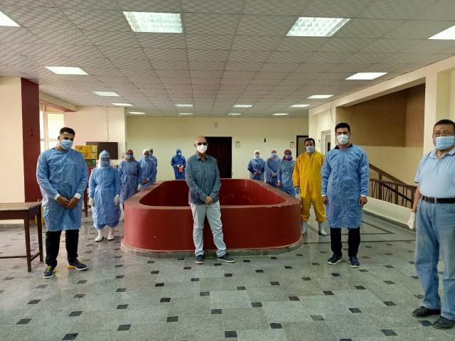 وزارة الصحة بالشرقية يتابع سير العمل بمستشفى العزل بالزقازيق 41