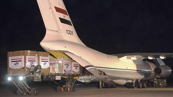 صورة وصول طائرة مساعدات طبية من مصر للكونغو وزامبيا