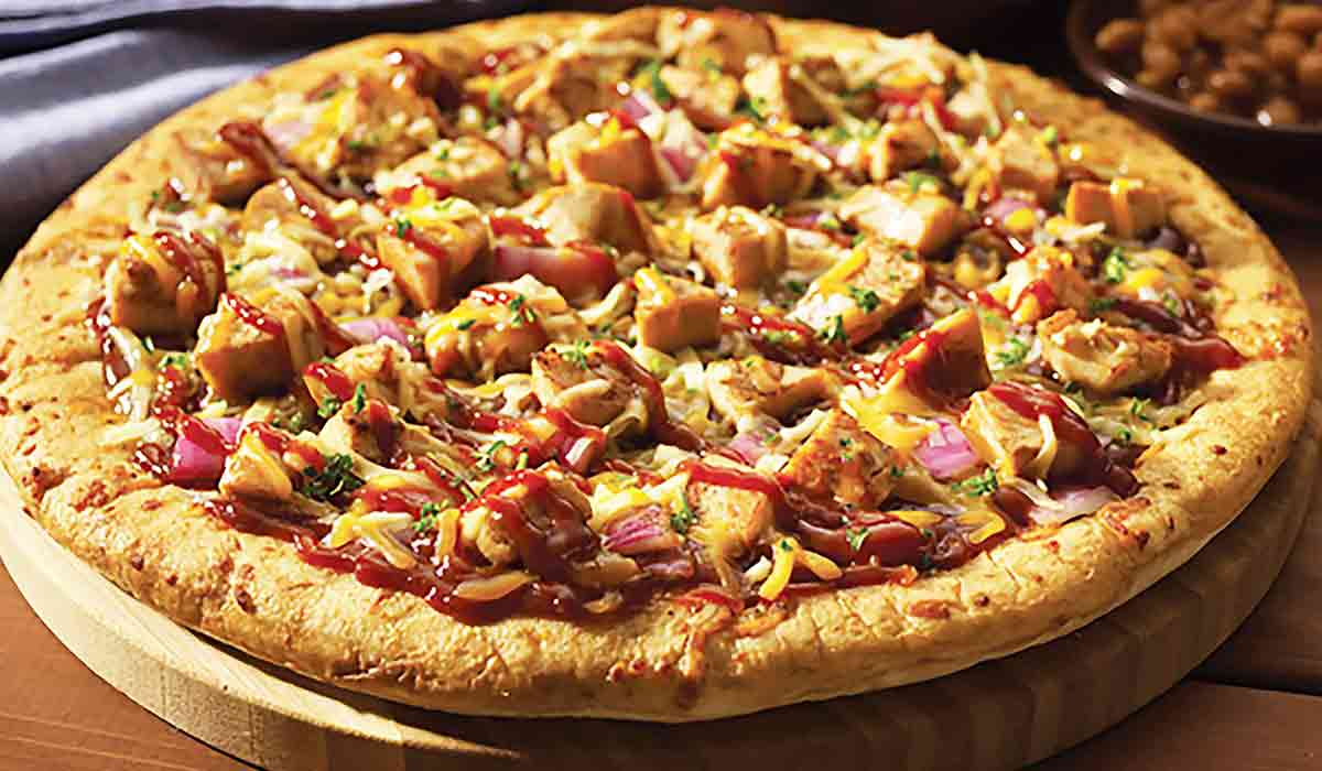 Chicken and BBQ Pizza