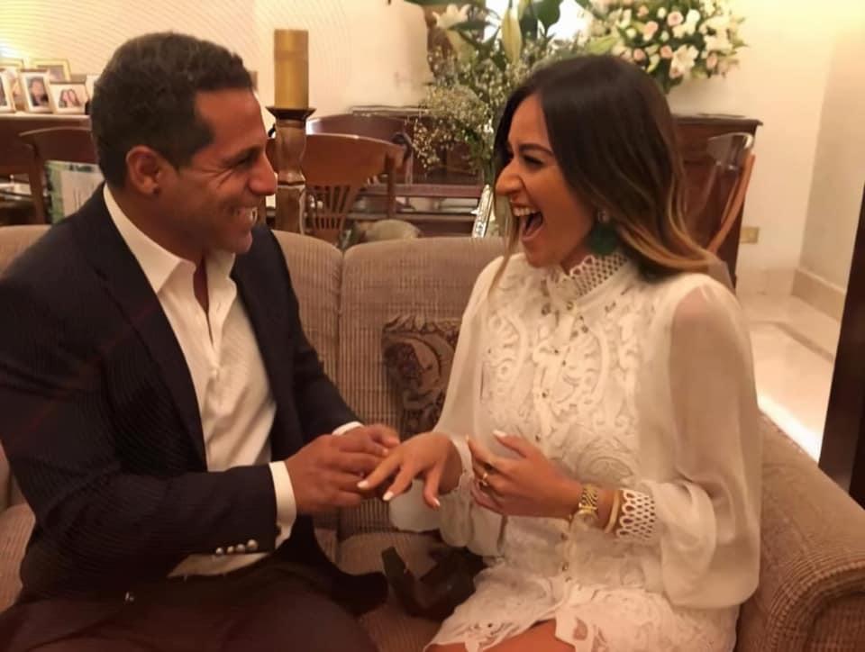 فستان أمينة خليل في حفل خطوبتها