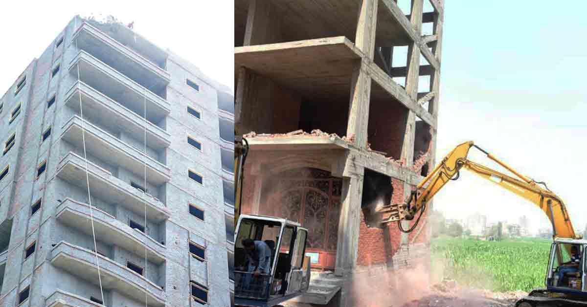صورة إزالة 101 مبنى مخالف و 84 حالة تعدي على الأراضي الزراعية في الشرقية