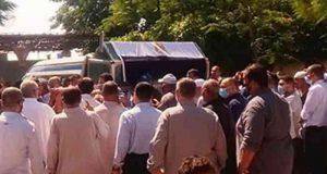صور.. وصول جثمان الدكتور مصطفى السعيد إلى شبرا صورة بالشرقية لأداء صلاة جنازة