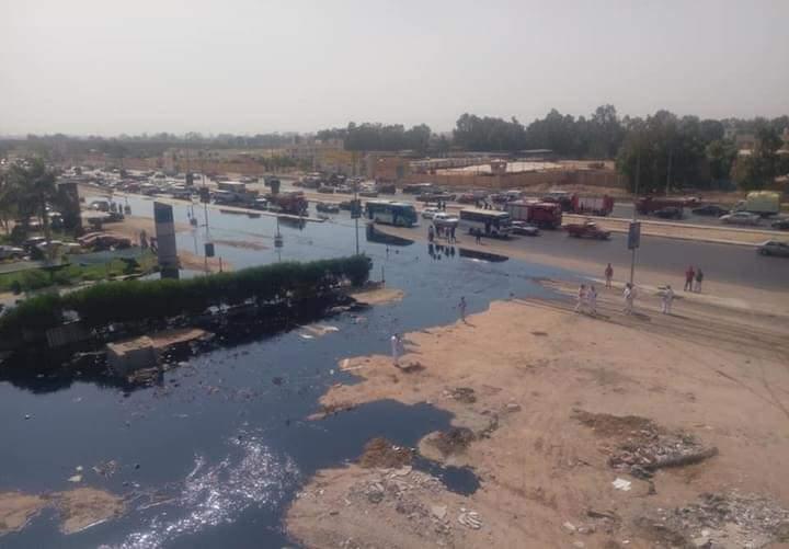 صورة التحريات الأولية لحريق طريق القاهرة الإسماعيلية الصحراوي تكشف السبب