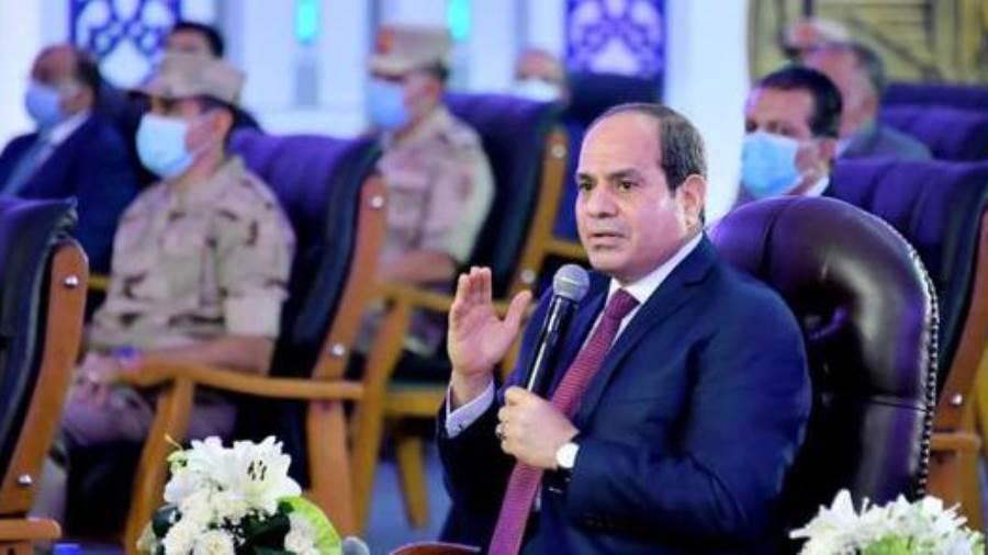 صورة علشان الناس تبقى مستعدة.. الرئيس السيسي: هناك مناطق لن يسمح بالبناء فيها مرة أخرى